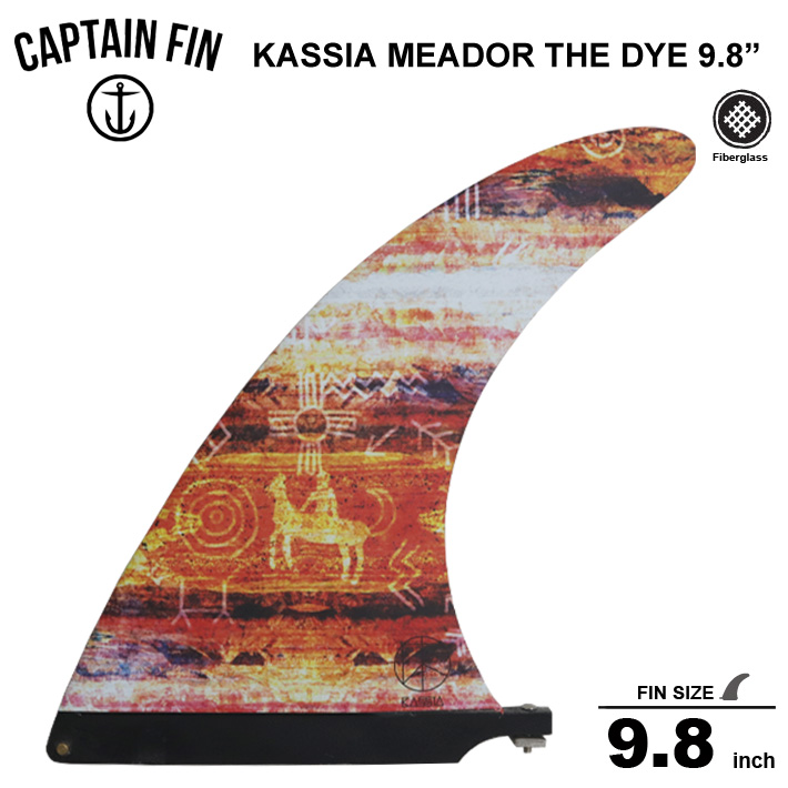 CAPTAIN FIN キャプテンフィン 9.8 シングル フィンKASSIA MEADOR TIE DYE red 9.8ロングボードセンターフィン/シングル フィン送料無料!!