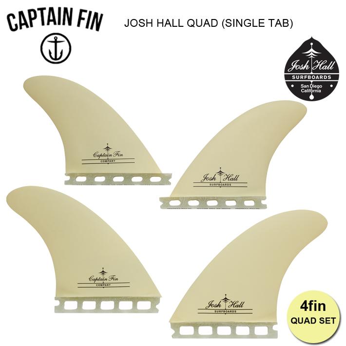 安心の定価販売 キャプテンフィン 正規販売店 送料無料 CAPTAIN FIN QUADFIN フューチャーフィン JOSH HALL QUAD Tab 舗 ホール Single フィン4本セット 4.75 ジョシュ クアッドフィン FUTURE フィン