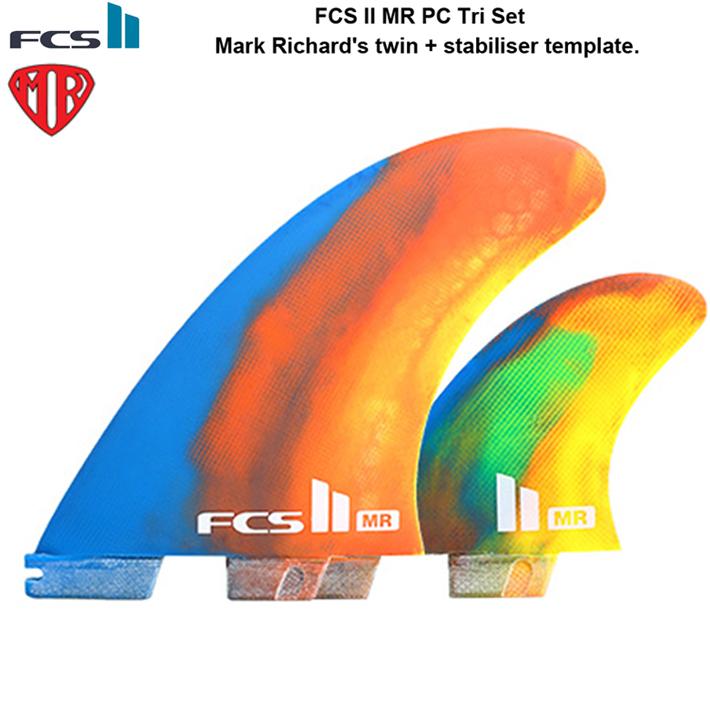 FCS2 フィンMR PC Tri Set MR's twin + stabiliser templateFCS2 フィンツイン+スタビ送料無料!