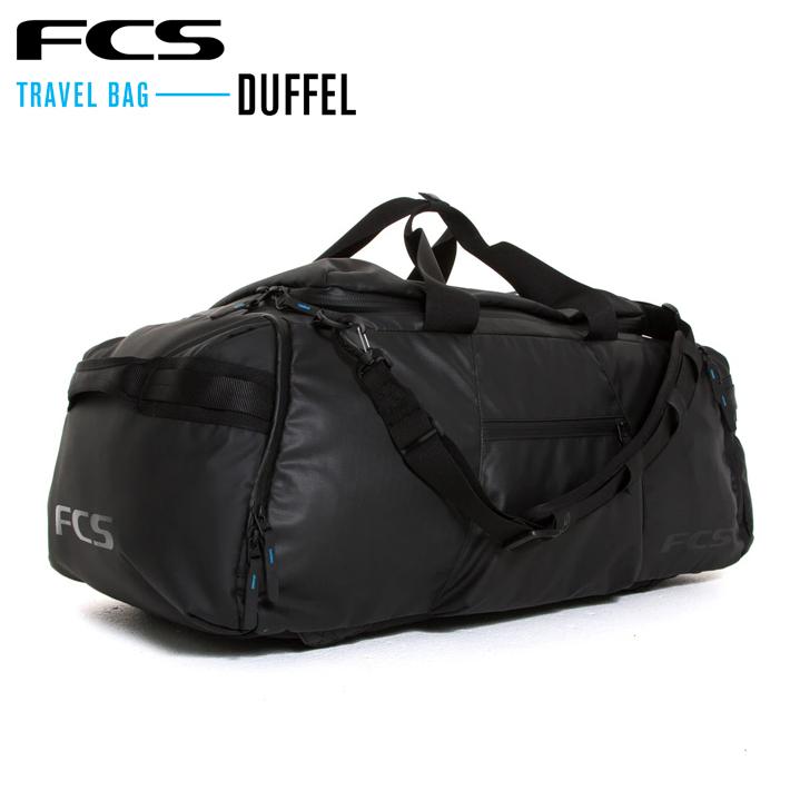 FCS エフシーエス DUFFEL 直送商品 TRAVEL BAG Medium: 66L 遠征旅行やサーフィンサファリのために全てのものを持ち運べるバッグです 送料無料 あす楽 バックパック BACKPACKS サーフィン リュック SERIES 旅行 贈答 DAY BLACK サーフトリップ