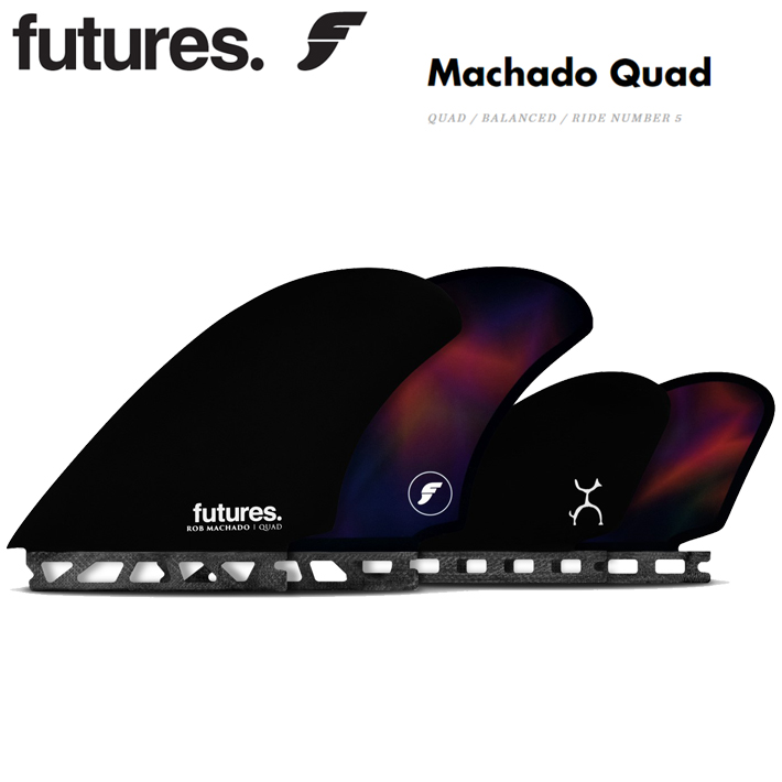 FUTURES FIN フューチャーフィンMachado Quadフューチャーフィン ロブマチャド クアッドモデルフューチャーフィン4本セットクワッドフィン/サーフギア 送料無料!
