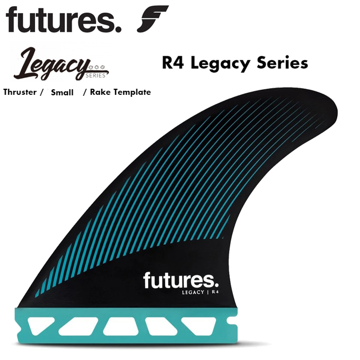 FUTURES FIN フューチャーフィン RTM HEX R4 Legacy Series Thruster / Small / Rake Template フューチャーフィン3本セット 送料無料!あす楽!