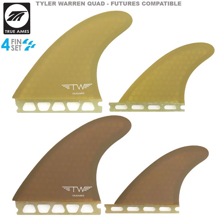 True Amesトゥルーアムス フィン TYLER WARREN QUAD - FUTURES COMPATIBLE タイラー・ウォーレンクアッドフィン フューチャー4本セット 送料無料!