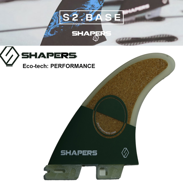 【SHAPERS FIN】シェイパーズフィン S2 BASE フィン3本セット送料無料! ECOTECH PERFORMANCE MODEL 2018モデル サーフィン/サーフボード/サーフギア
