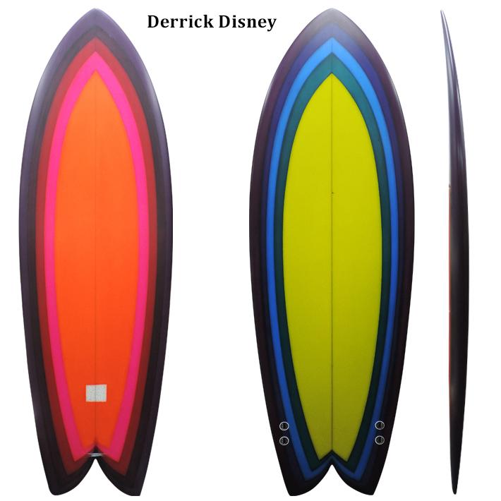【DERRICK DISNEY SURFBOARDS】デリック ディズニー シェイプTWIN 5'2 VISSLA トップライダーシェイプ日本初登場