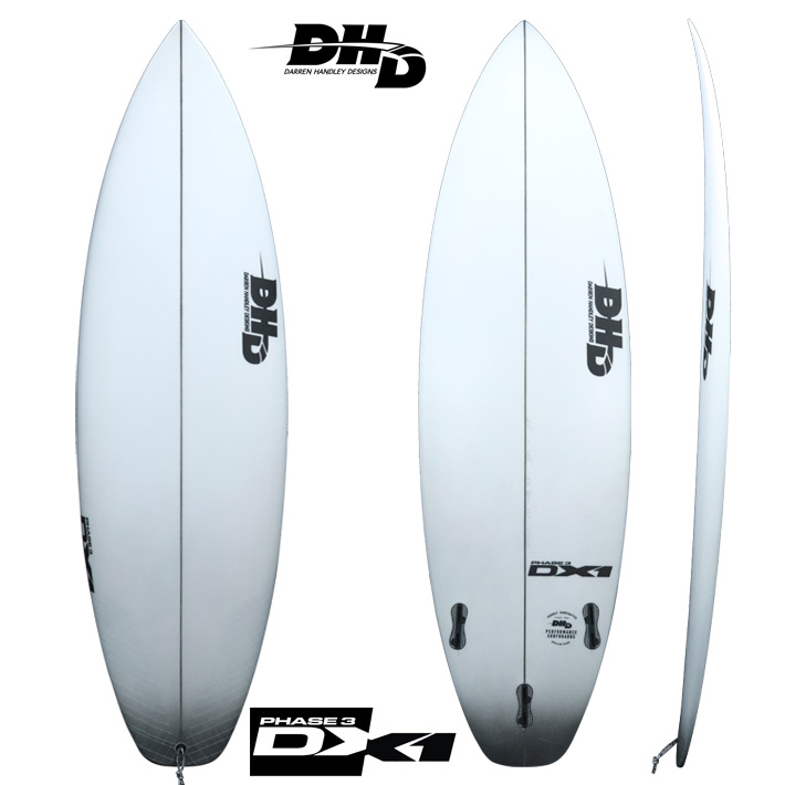 "【DHD SURFBOARDS】DHD サーフボードDX1 PHASE3 5'10""x 18 3/4""x 2 5/16"" 26.5L FCS2DX1のニューモデル 送料無料"
