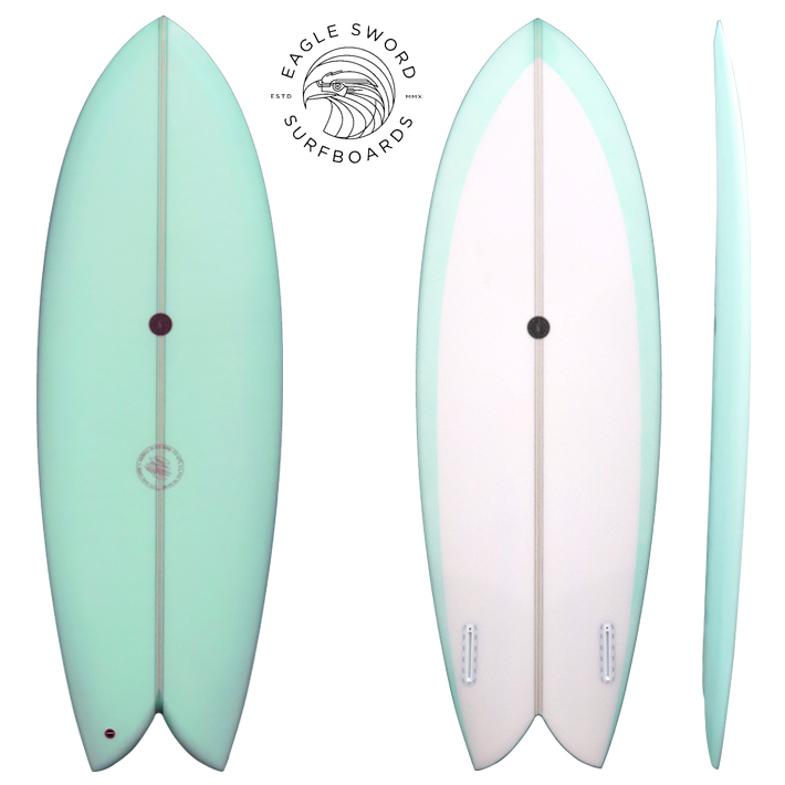 "【Eagle Sword Surfboards】イーグル ソードサーフボード FDK 5'5"" FIN付きHand shaped custom surfboards made in Australia by Ash Ward日本初上陸!送料無料!"