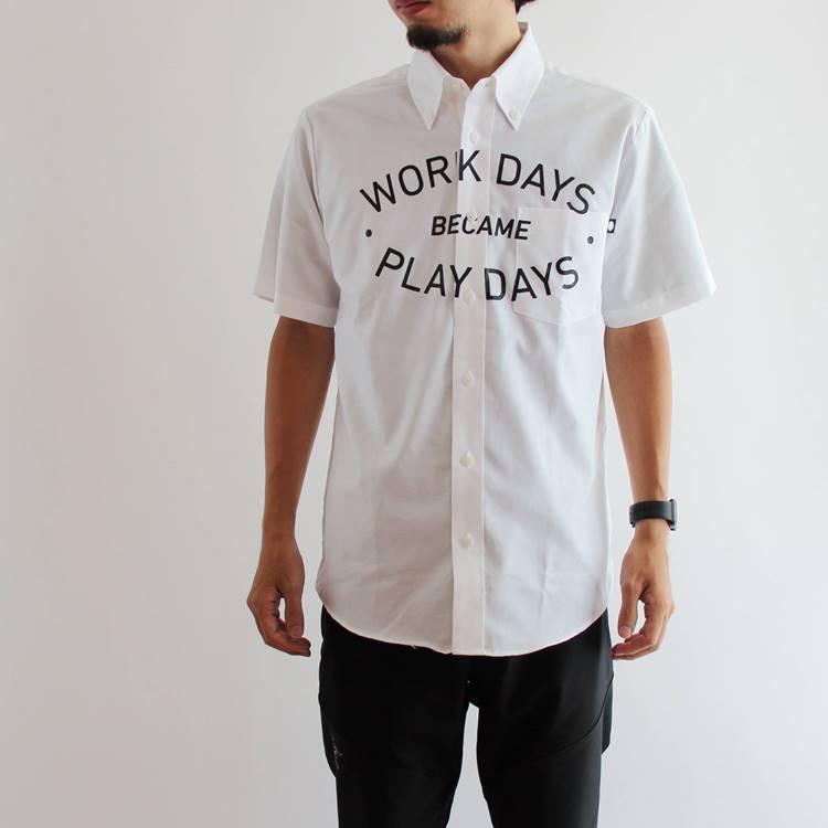 【国内正規品】PLAYDESIGN(プレイデザイン) THE PRINT BD SS SHIRTS (ザプリントBD SSシャツ) WHITE