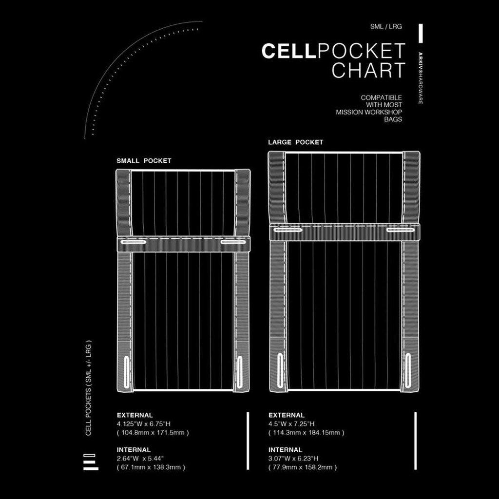 MISSIONWORKSHOP (ミッションワークショップ) Arkiv CELL POCKET LARGE  Black