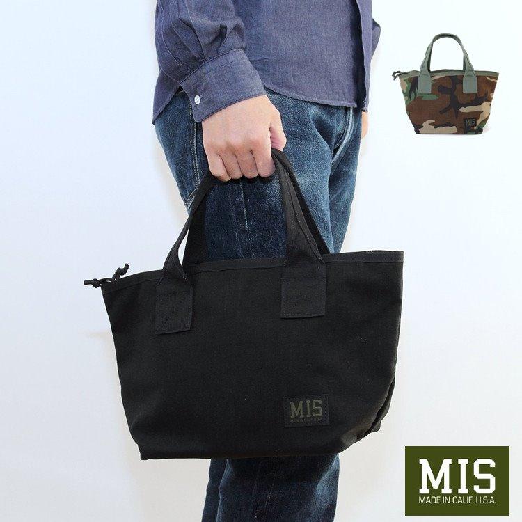 MIS(エムアイエス) MINI TOTE BAG(ミニトートバック) Black WoodlandCamo