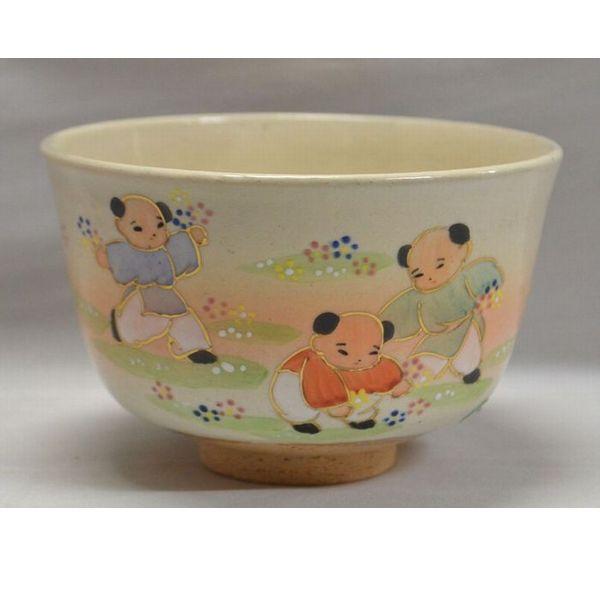 <茶道具・茶碗>野遊びの絵茶碗・耕寅窯作 春にお使い頂くのもよろしいかと思います