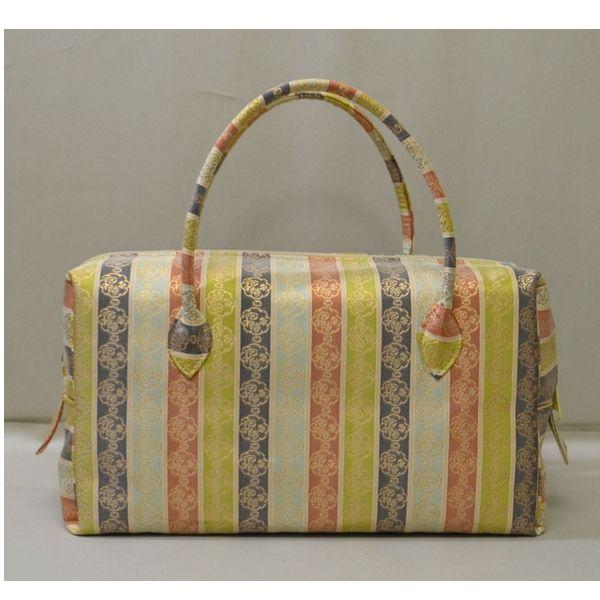 <茶道具・お稽古 和装バッグ>和装ボストンバッグ お茶会やお稽古に、お出かけにも、使いやすいサイズのバッグかと思います。