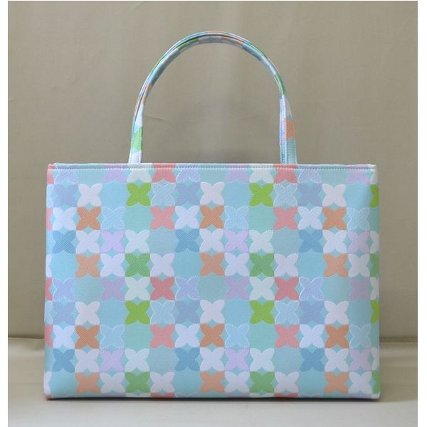 <茶道具・お稽古 和装バッグ>和装トートバッグ お茶会やお稽古に、旅行等にも使いやすい大きさのバッグです