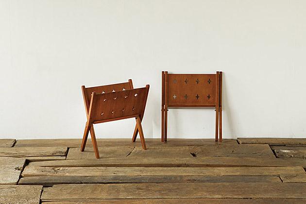 アクメファニチャー ACME Furniture BROOKS BOOK STAND ブルックス ブックスタンド マガジンラック 折り畳み式 木製 スリム 薄型 おしゃれ アンティーク A4 送料無料