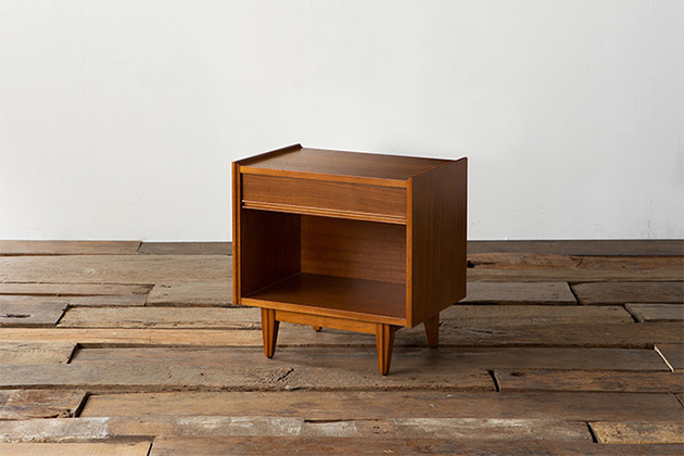 ナイトテーブル ミニテーブル サイドテーブル ベッドサイド 収納家具 収納棚 小型 アクメファニチャー ACME Furniture TRESTLES NIGHT STAND トラッセル ナイトスタンド 幅55m