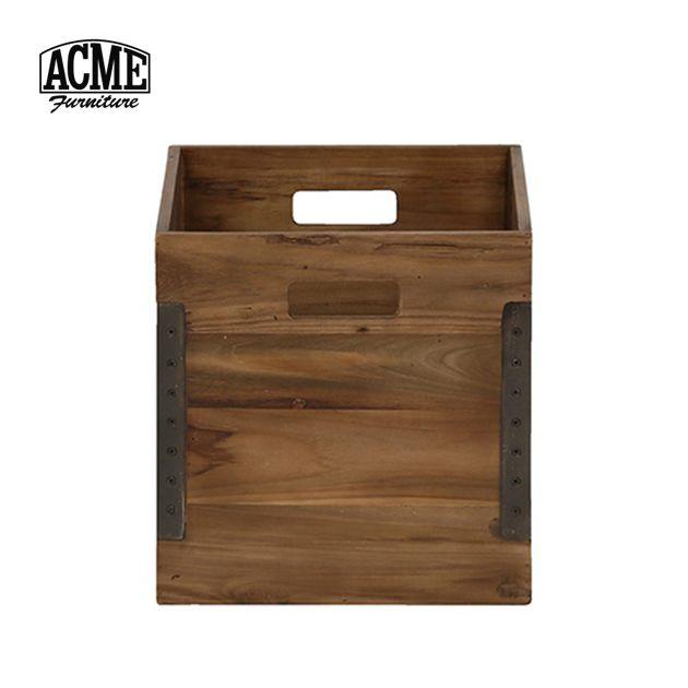 アクメファニチャー ACME Furniture TROY BOX L トロイ ボックス 幅31.5×高さ31.5cm 木製 木箱 ヴィンテージ アンティーク おしゃれ 新生活 送料無料