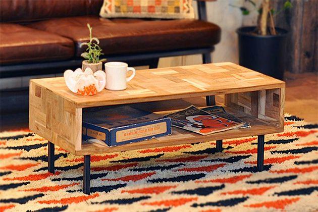 幅90cm ローテーブル リビングテーブル テーブル テレビ台 テレビボード 小型 高さ40cm 24型 脚付き ミニ 木製 北欧 デスク 机 おしゃれ 新生活 アクメファニチャー ACME Furniture TROY COFFEE TABLE S トロイ コーヒーテーブル 送料無料
