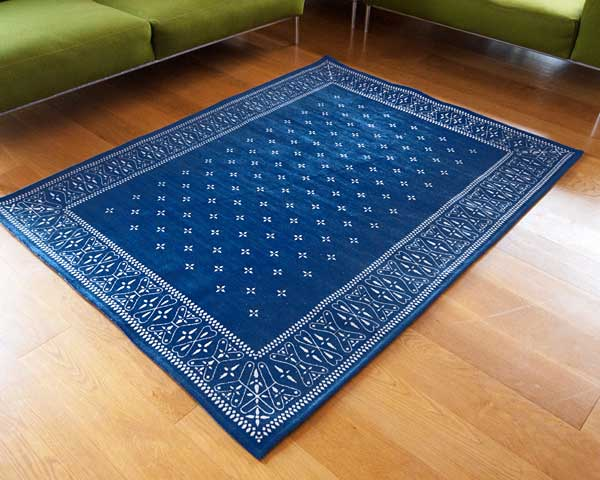 【送料無料】cross bandanna rug クロス バンダナ ラグ L 200×140cm おしゃれ ホットカーペット 床暖房対応