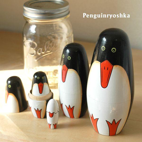 マトリョーシカ 人形 雑貨 ペンギン グッズ 置物 オブジェ インテリア ロシア 民芸品 Penguinryoshka ペンギンリョーシカ