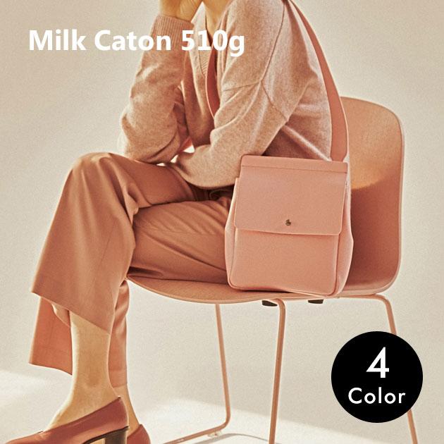 ショルダーバッグ レディース 肩掛け バッグ 鞄 おしゃれ スクエア 可愛い シンプル かわいい ブラック 黒 ピンク イエロー グリーン 黄色 緑 誕生日 プレゼント 彼女 母の日 ミルクカートン milk caton 510g