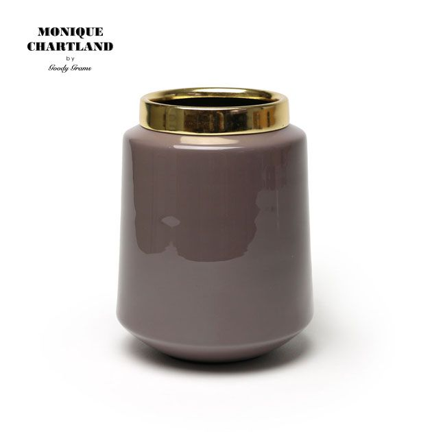 MONIQUE CHARTLAND / ENAMEL VASE 04 ゴミ箱 ごみ箱 卓上 ミニ 小さい ドライフラワー用 フラワーベース 枝物 置物 オブジェ ドライフラワー インテリア モダン おしゃれ かわいい 金属 インテリア雑貨 割れない