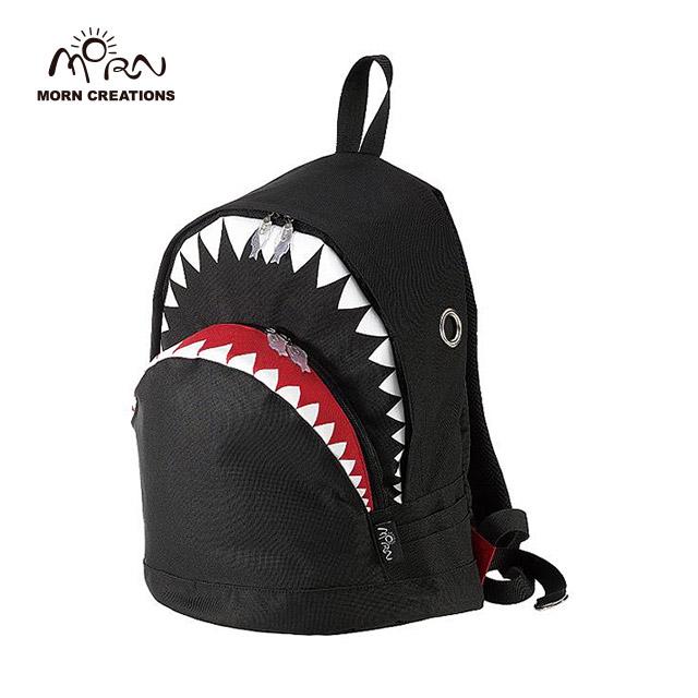 サメ リュック モーンクリエイションズ シャークバックパック L ブラック MORN CREATIONS SK-101