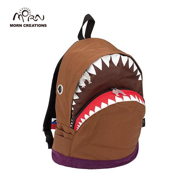 サメ リュック モーンクリエイションズ シャークバックパック L ブラウン MORN CREATIONS SK-101