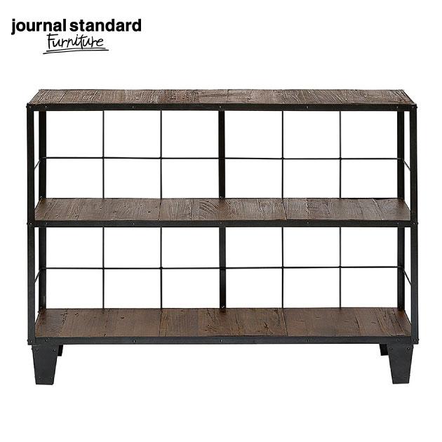 ジャーナルスタンダードファニチャー journal standard Furniture CALVI WIDE SHELF カルビシェルフ ラック アイアン アンティーク オープンシェルフ スリム おしゃれ 壁 什器 アパレル カフェ ショップ 棚 収納
