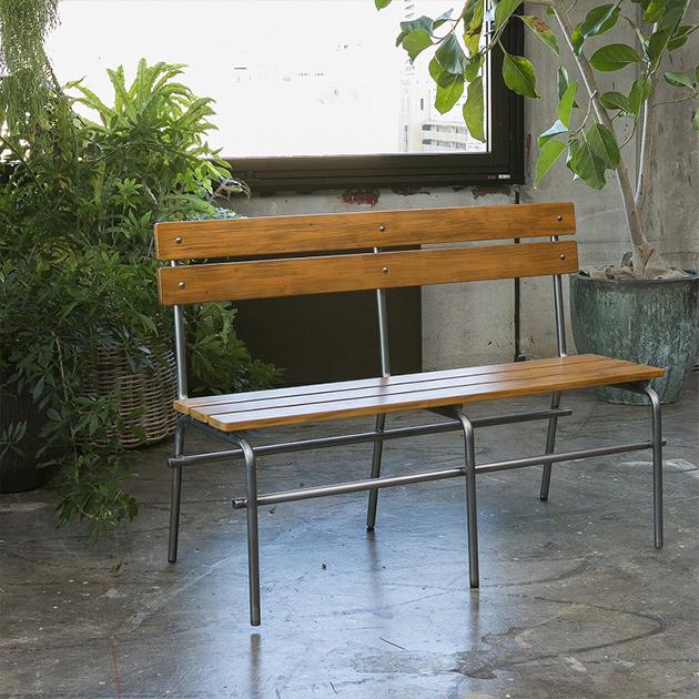 ジャーナルスタンダードファニチャー journal standard Furniture BRISTOL BENCH ブリストル ベンチ 椅子 幅120cm 木製 鉄製 アイアン 什器 おしゃれ 店舗 ショップ 事務所 アパレル シンプル 送料無料