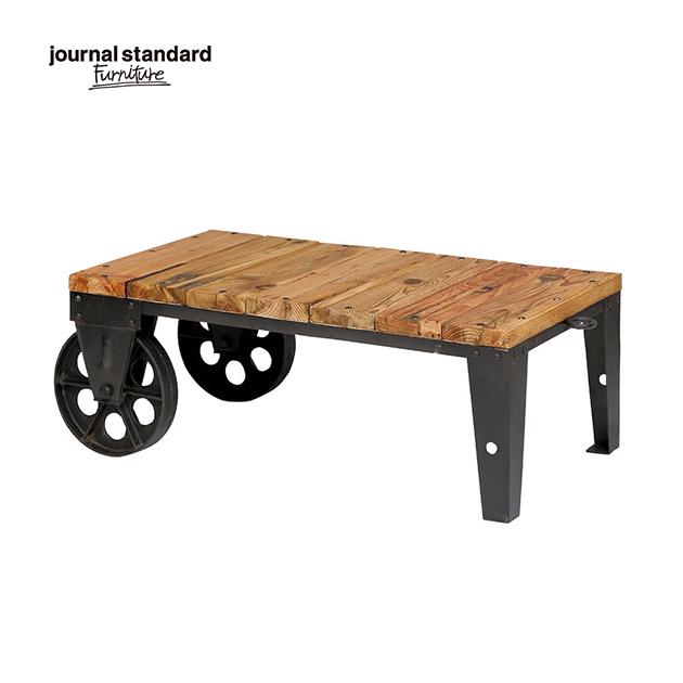 ジャーナルスタンダードファニチャー journal standard Furniture BRUGES DOLLY ブルージュ ドーリーテーブル 90×50cm 木製 鉄製 アイアン 什器 おしゃれ 店舗 ショップ 事務所 アパレル キャスター 送料無料