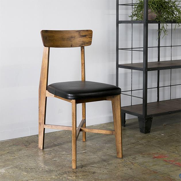 ジャーナルスタンダードファニチャー journal standard Furniture CHINON CHAIR VINYL LEATHER シノン チェアー ビニールレザー 椅子 木製 什器 おしゃれ 店舗 ショップ カフェ 事務所 アパレル 北欧 ミッドセンチュリー 送料無料