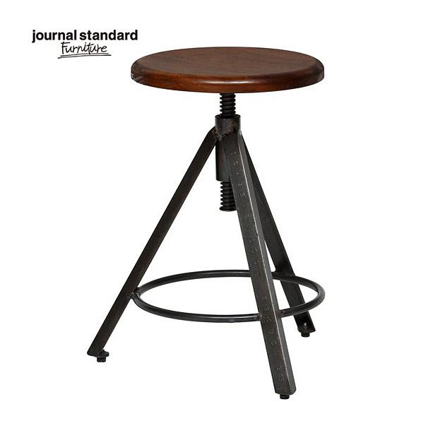 ジャーナルスタンダードファニチャー journal standard Furniture CHINON STOOL シノン スツール ウッドシート 座面昇降 椅子 木製 什器 おしゃれ 店舗 ショップ カフェ 事務所 アパレル 北欧 ミッドセンチュリー 送料無料
