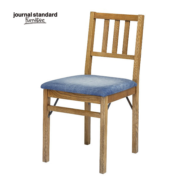 ジャーナルスタンダードファニチャー journal standard Furniture HARLEM CHAIR DENIM ハーレム チェア デニム 椅子 木製 什器 おしゃれ 店舗 ショップ カフェ 事務所 アパレル 北欧 ミッドセンチュリー 送料無料
