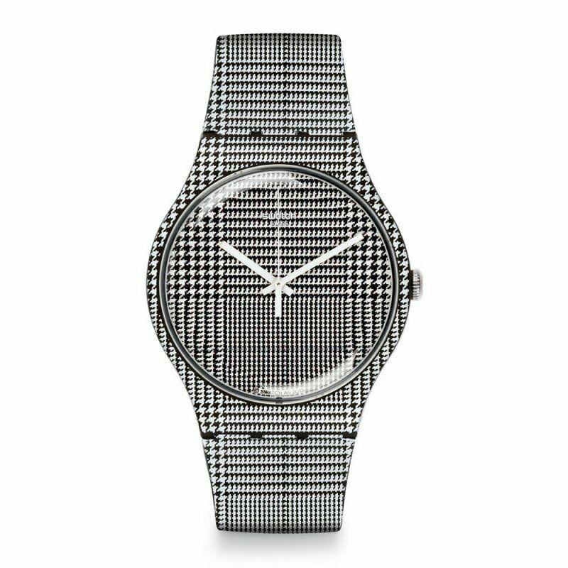 スウォッチ SWATCH SUOB113 メンズ 腕時計 ORIGINALS WHITE SILICONE SWISS QUARTZ