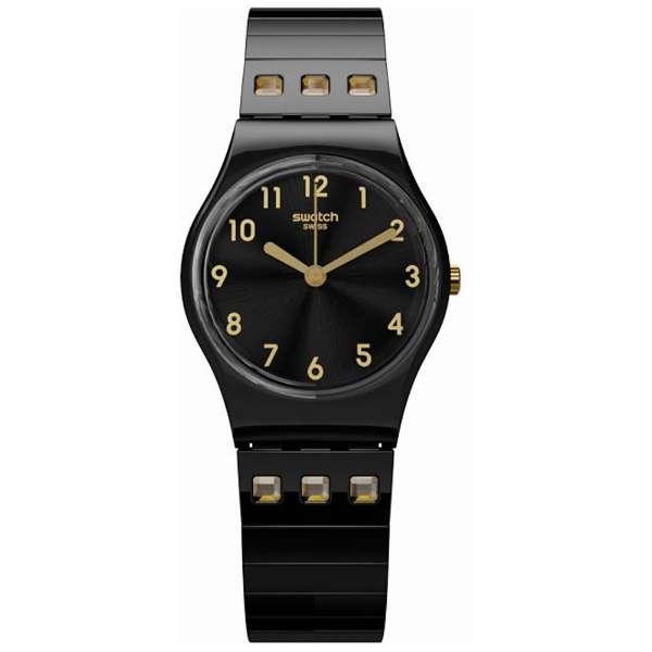 """スウォッチ SWATCH LB181A レディース 腕時計 Posh N"""" Flex Black Stainless-Steel Quartz"""
