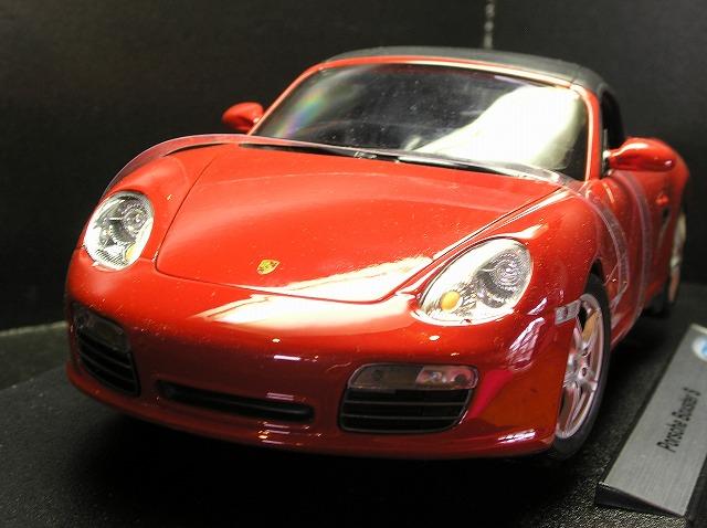新品 ミニカー WELLY Porsche Boxster S 1/18 赤