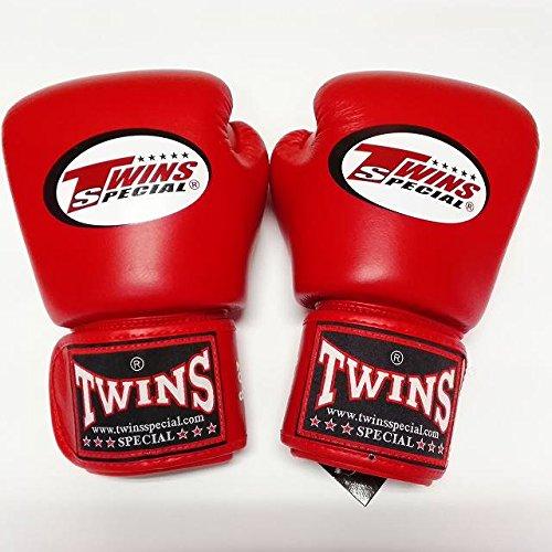 TWINS SPECIAL ボクシンググローブ 8oz 赤/ボクシング/ムエタイ/グローブ/キック/フィットネス/本革製