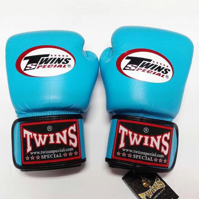 TWINS SPECIAL ボクシンググローブ 16oz 水色/ボクシング/ムエタイ/グローブ/キック/フィットネス/本革製