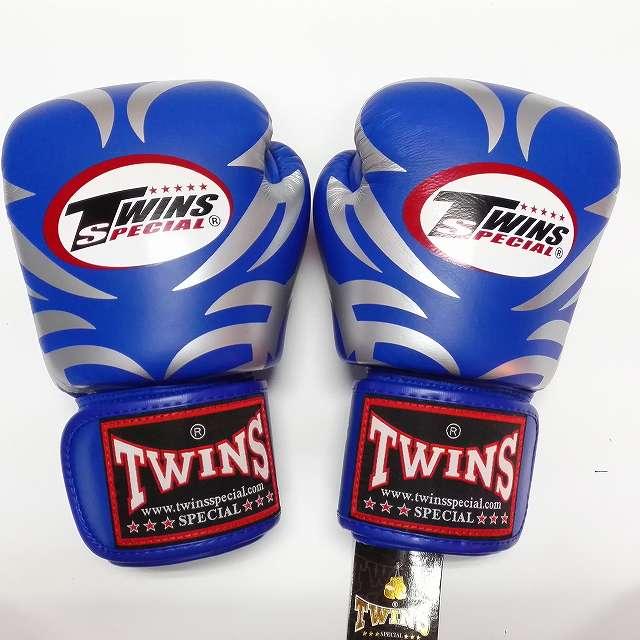 TWINS SPECIAL ボクシンググローブ 10oz T青銀 /ボクシング/ムエタイ/グローブ/キック/フィットネス/本革製/10オンス
