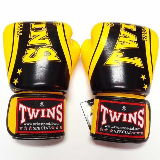 TWINS SPECIAL ボクシンググローブ 16oz TW黄黒SP /ボクシング/ムエタイ/グローブ/キック/フィットネス/本革製/ツインズ/大人用/16オンス
