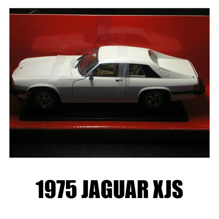 新品 ミニカー 1975 JUGUAR XJS 1/18 白