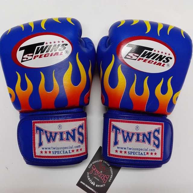 TWINS SPECIAL ボクシンググローブ 14oz F青 /ボクシング/ムエタイ/グローブ/キック/フィットネス/本革製/ツインズ