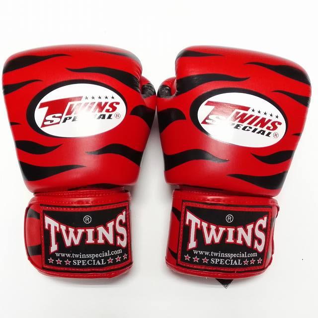 TWINS SPECIAL ボクシンググローブ 14oz Z赤黒 /ボクシング/ムエタイ/グローブ/キック/フィットネス/本革製/ツインズ/オンス