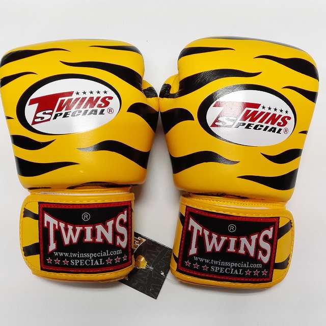TWINS SPECIAL ボクシンググローブ 8oz Z黄黒 /ボクシング/ムエタイ/グローブ/キック/フィットネス/本革製/ツインズ/オンス