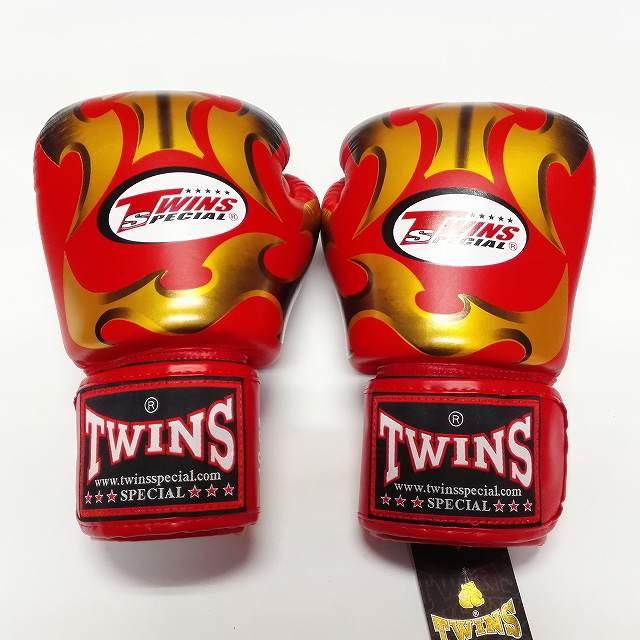 TWINS SPECIAL ボクシンググローブ 14oz MT赤金 /ボクシング/ムエタイ/グローブ/キック/フィットネス/本革製/ツインズ/大人用