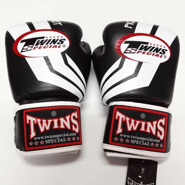 TWINS SPECIAL ボクシンググローブ 14oz Fs黒白 /ボクシング/ムエタイ/グローブ/キック/フィットネス/本革製/ツインズ/大人用/オンス
