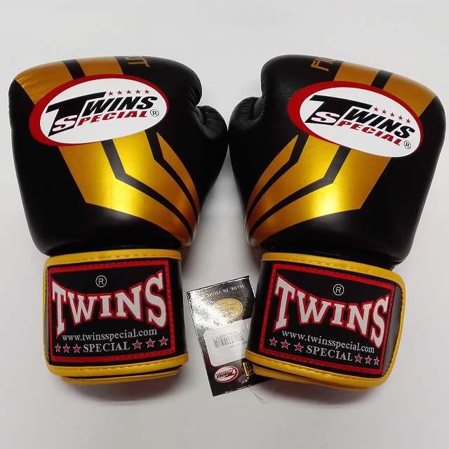 TWINS SPECIAL ボクシンググローブ 16oz Fs黒金 /ボクシング/ムエタイ/グローブ/キック/フィットネス/本革製/ツインズ/大人用/オンス