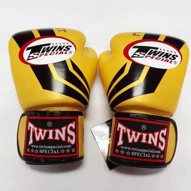 TWINS SPECIAL ボクシンググローブ 12oz Fs金黒 /ボクシング/ムエタイ/グローブ/キック/フィットネス/本革製/ツインズ/大人用/オンス