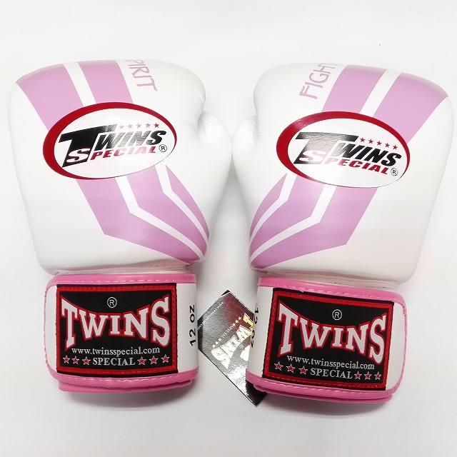 TWINS SPECIAL ボクシンググローブ 12oz Fs白桃 /ボクシング/ムエタイ/グローブ/キック/フィットネス/本革製/ツインズ/大人用/オンス