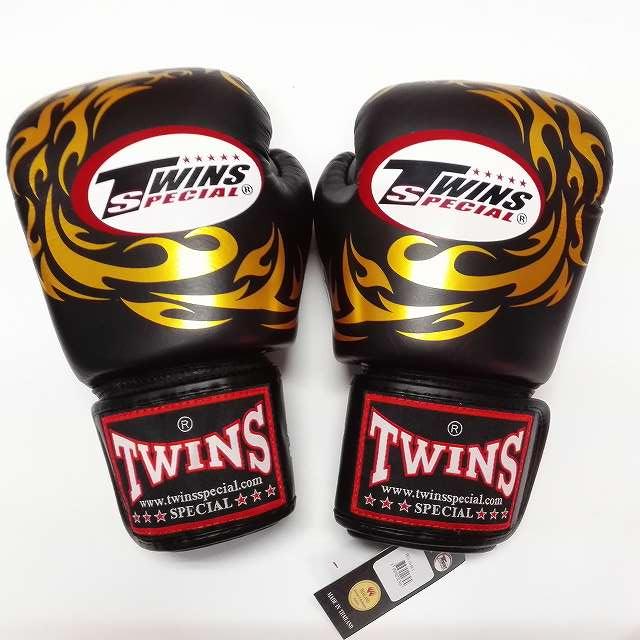 TWINS SPECIAL ボクシンググローブ 16oz T龍黒 /ボクシング/ムエタイ/グローブ/キック/フィットネス/本革製/ツインズ/大人用/オンス